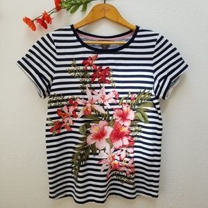 Tommy Bahama Sacred Groves Floral Striped T-Shirt